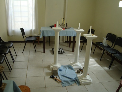 Templo provisório.