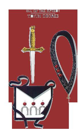 Escudos y Mandiles del rito Escocés 10dega