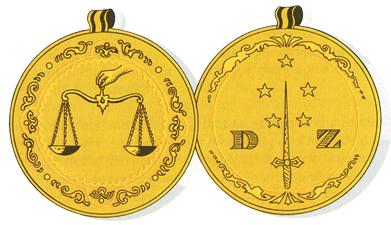 Escudos y Mandiles del rito Escocés 16th-degree-symbol