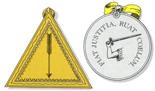 Escudos y Mandiles del rito Escocés 21st-degree-symbol