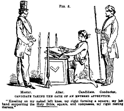 Os juramentos são tomados sobre o livro da lei.