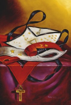 Escudos y Mandiles del rito Escocés Apron25