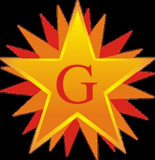 A estrela flamigera, simbolizando os cinco sentidos e as cinco viagens do CM.