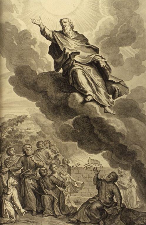 Enoch subindo aos céus.
