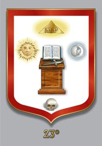 Escudos y Mandiles del rito Escocés Grau23