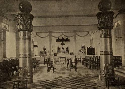Foto de um antigo templo maçônico.