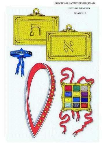 Escudos y Mandiles del rito Escocés Mm19