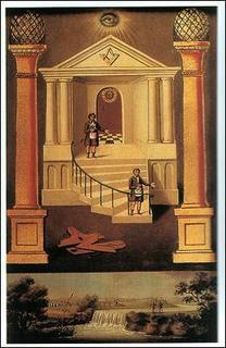 Painel simbólico do grau de companheiro maçom.