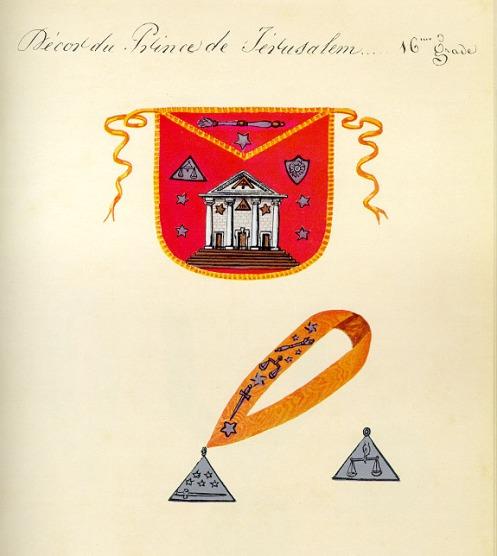 Escudos y Mandiles del rito Escocés Prc3a9cis-16