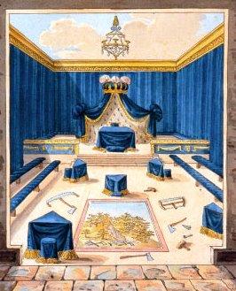 Templo pronto para o grau de príncipe do libano