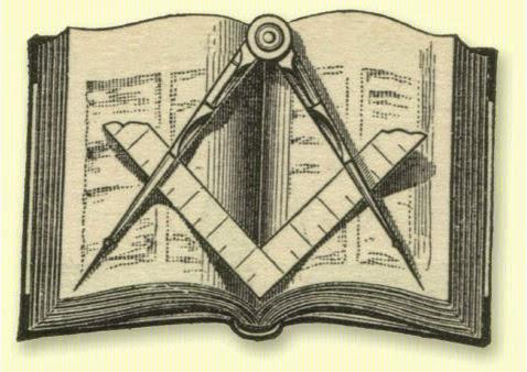 As 3 luzes, O esquadro, o compasso e a bíblia sagrada(livro da lei)