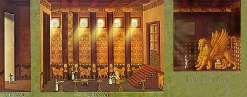 Comparemos a maçonaria simbólica as partes do templo de Israel, o Atrio