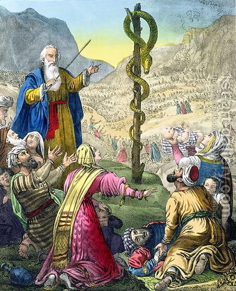 Escudos y Mandiles del rito Escocés The-brazen-serpent-from-a-bible-printed-by-edward-gover-187027s