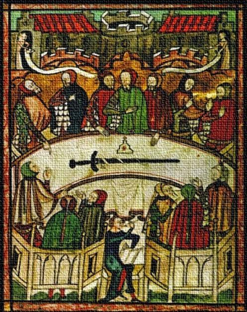 Escudos y Mandiles del rito Escocés Tribunal-de-santa-veheme