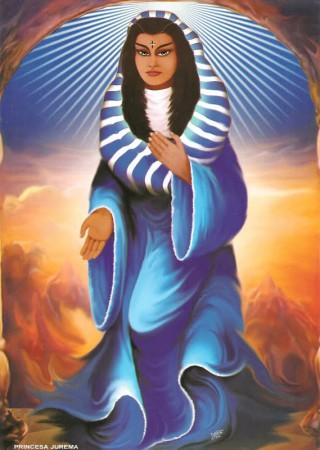 A princesa jurema é uma das 3 princesas do vale do amanhecer, é o primeiro espirito guia do médium sol