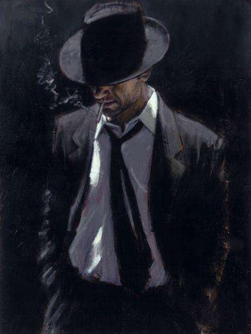man in black suit III