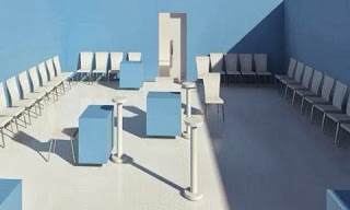 o templo é o mais minimalista possível